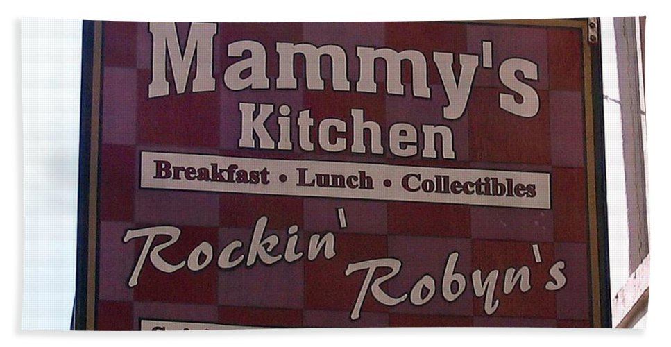 Photograph Beach Towel featuring the photograph Mammy's Kitchen In Bardstown Kentucky by Marian Bell