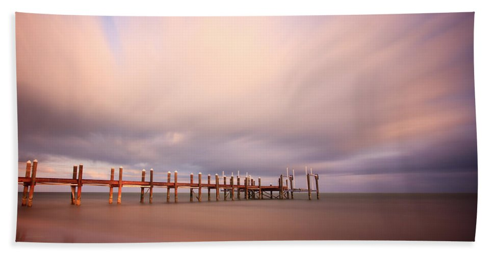 Abstract Beach Towel featuring the photograph Marathon Key Long Exposure by Adam Romanowicz