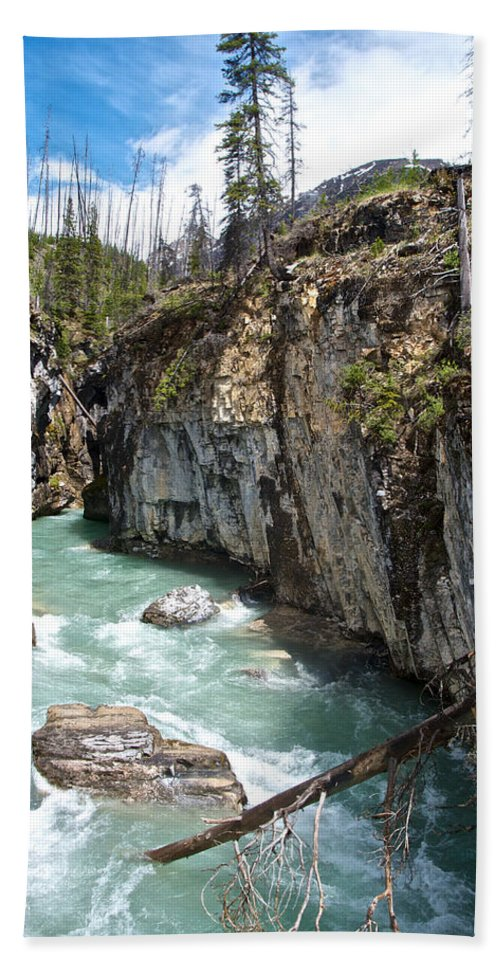 Marble Canyon In Kootenay Np Beach Towel featuring the photograph Marble Canyon In Kootenay Np-bc by Ruth Hager