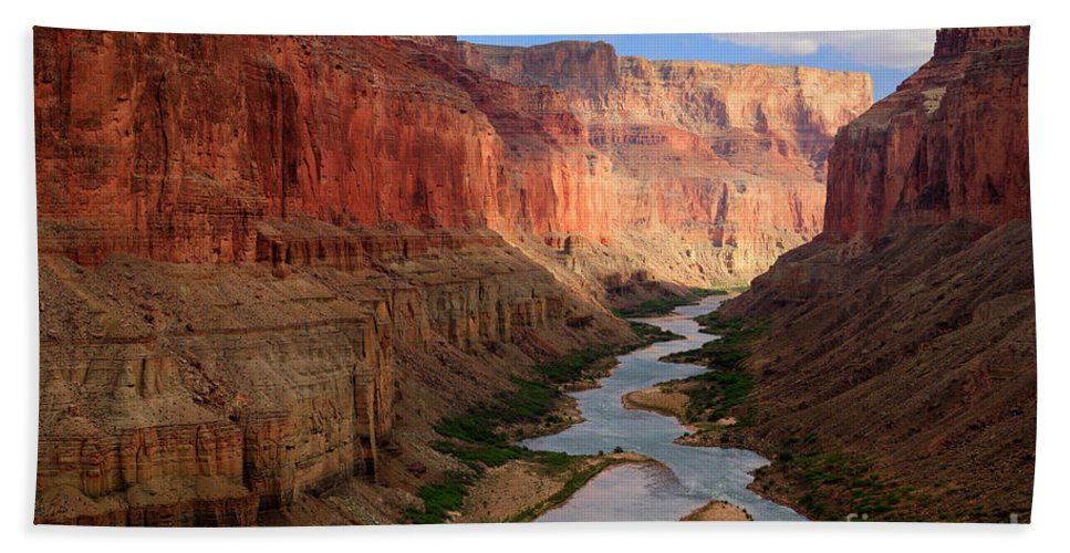 America Beach Towel featuring the photograph Marble Canyon - April by Inge Johnsson