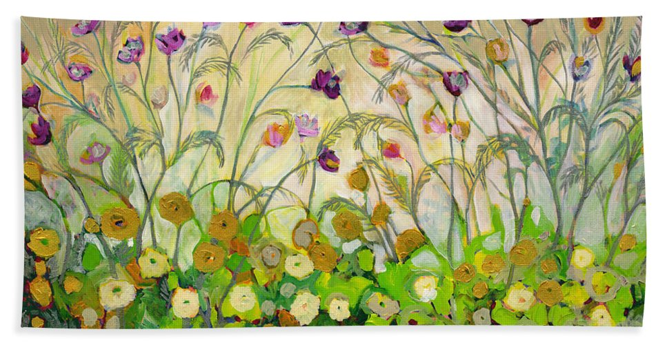Landscape Beach Towel featuring the painting Mardi Gras by Jennifer Lommers