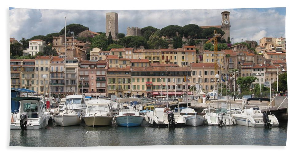 Marina Beach Towel featuring the photograph Marina Cannes by Christiane Schulze Art And Photography