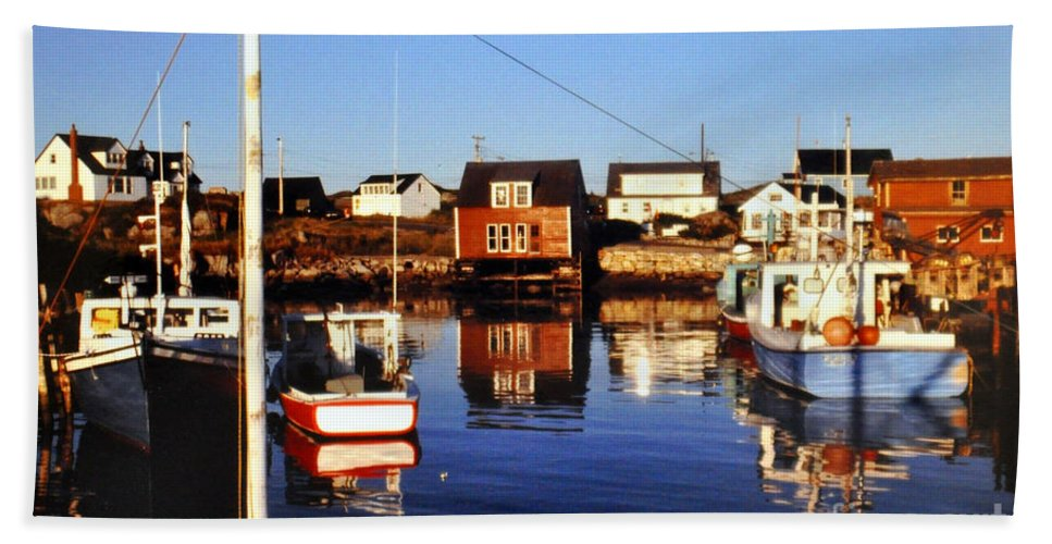 Maritme Beach Towel featuring the photograph Maritme Shadows And Reflections by Lydia Holly