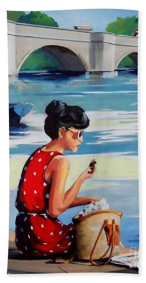 Figure Beach Towel featuring the painting Mars Bar by Terence R Rogers