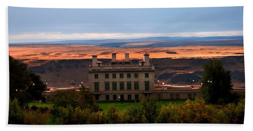 Museum Beach Towel featuring the photograph Mary Hill Museum by Image Takers Photography LLC