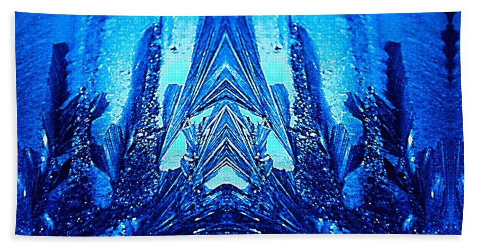 Blue Beach Towel featuring the photograph Mask by Richard Thomas