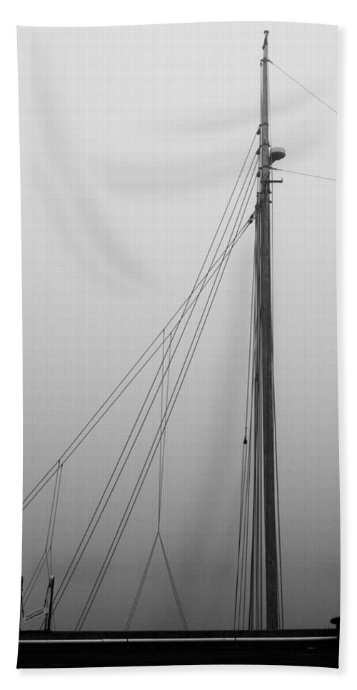 Abstract Beach Towel featuring the photograph Mast And Rigging by Bob Orsillo