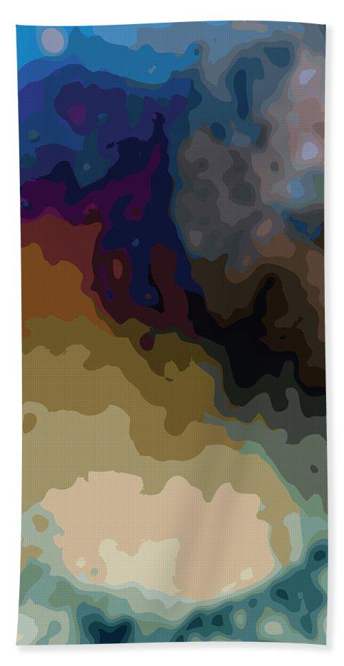 Abstract Beach Sheet featuring the digital art Matter And Matter by James Kramer
