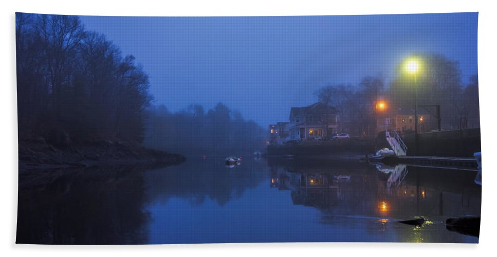 Evening Beach Towel featuring the photograph May Day Evening At Town Landing by David Stone