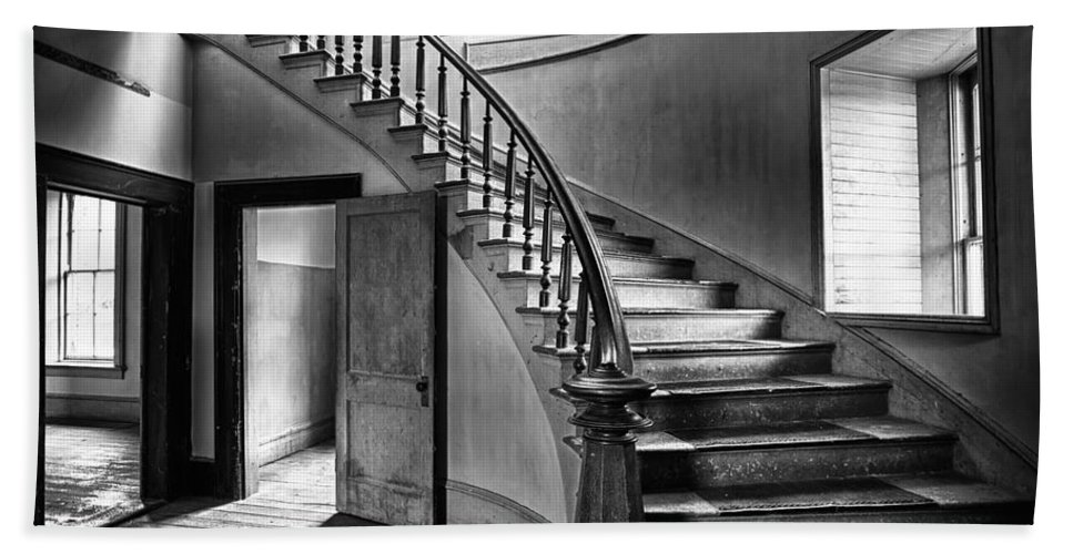 Hotel Beach Towel featuring the photograph Meade Staircase by Renee Sullivan
