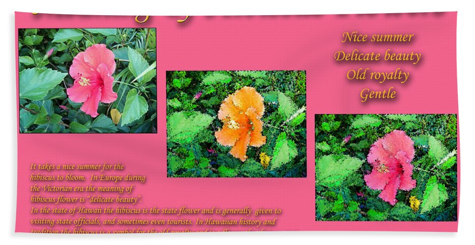 Meaning Of Hibiscus Flowers Beach Towel For Sale By William Braddock