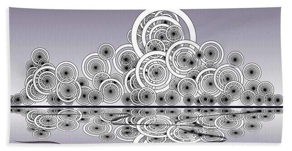 Reflection Beach Towel featuring the digital art Mechanical Spirits by Anastasiya Malakhova