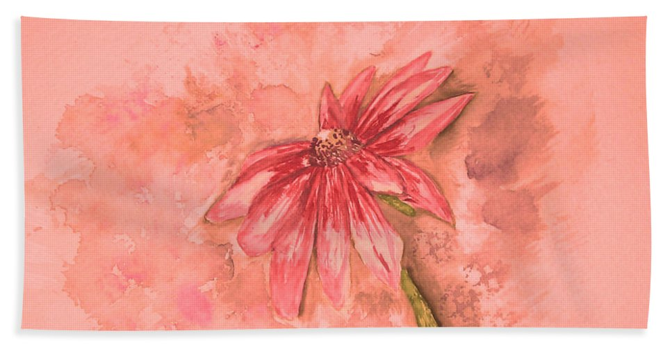 Watercolor Beach Towel featuring the painting Melancholoy by Crystal Hubbard