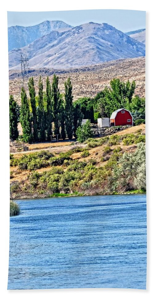 Barn Beach Towel featuring the photograph Melba Idaho by Image Takers Photography LLC