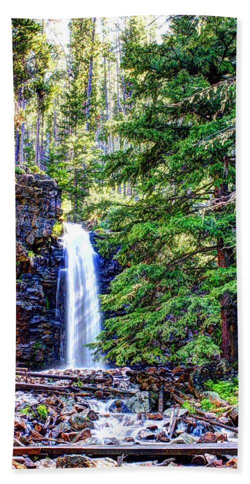 Spring Beach Towel featuring the photograph Memorial Falls In Montana by John Lee