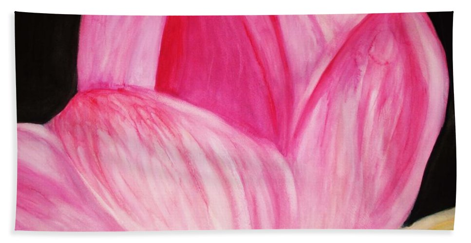 Water Color Flower Beach Towel featuring the painting Memory by Yael VanGruber