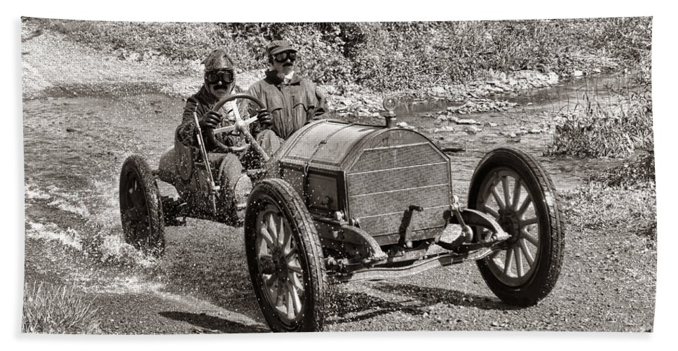 1912 Beach Towel featuring the photograph Mercer Raceabout by Olivier Le Queinec