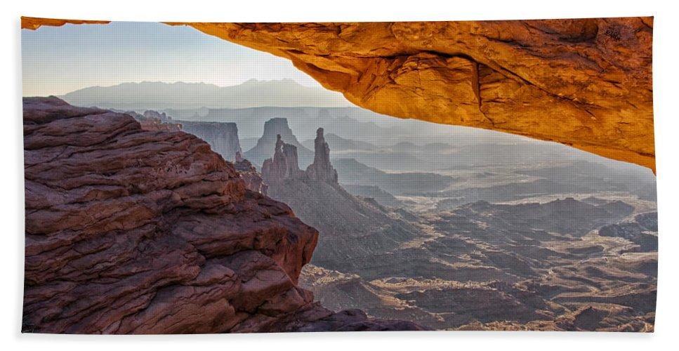 Mesa Arch Beach Towel featuring the photograph Mesa Arch by Mark Kiver