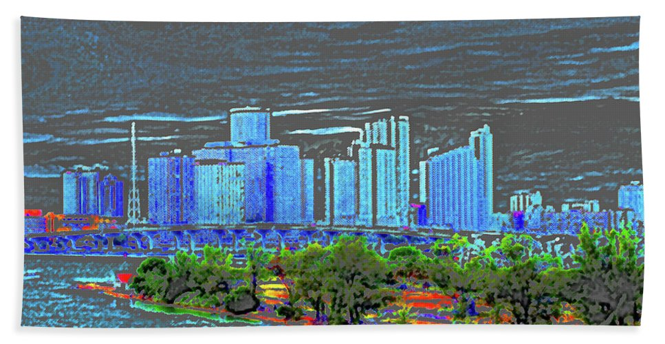 Miami Beach Towel featuring the photograph Miami Color by Molly McPherson