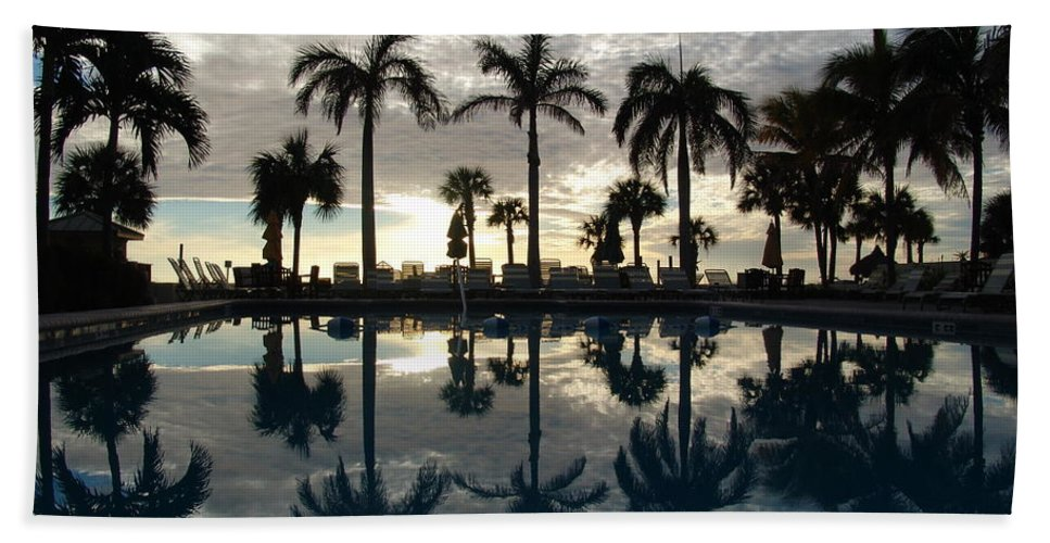 Miami Beach Towel featuring the photograph Miami Sunset by Ian Mcadie