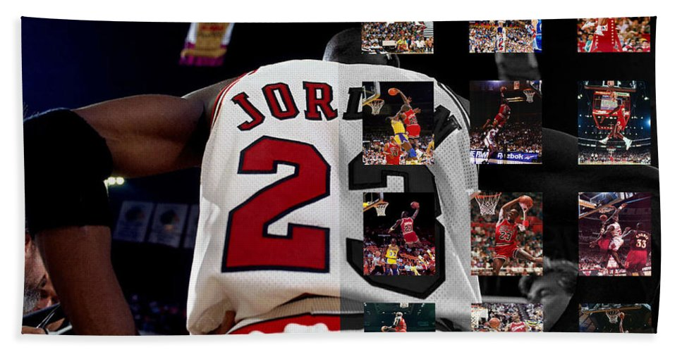 Michael Jordan Beach Towel featuring the photograph Michael Jordan by Joe Hamilton