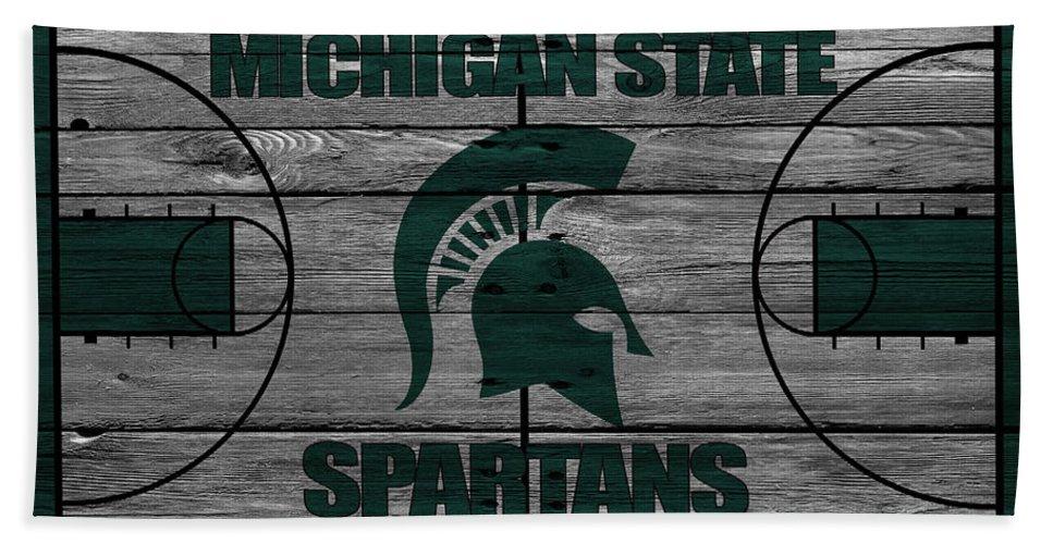 Spartans Beach Towel featuring the photograph Michigan State Spartans by Joe Hamilton