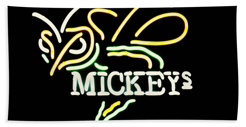 Beach Towel featuring the photograph Mickeys by Kelly Awad