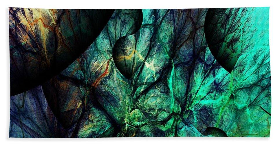 Fine Art Beach Towel featuring the digital art Microcosm by David Lane