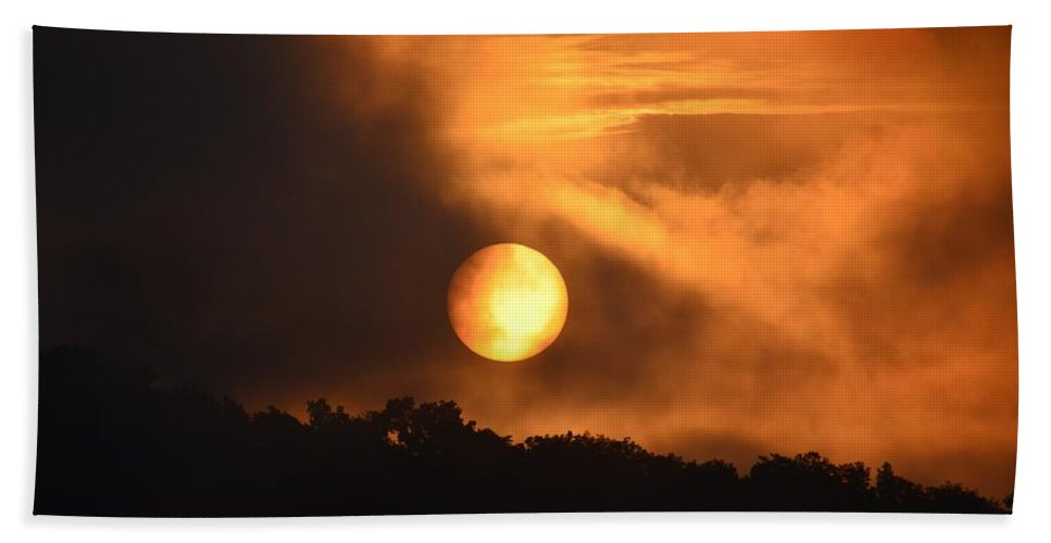 Mid-july Sunrise Beach Towel featuring the photograph Mid-july Sunrise by Maria Urso