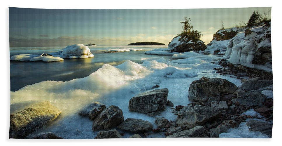 Bay Beach Towel featuring the photograph Middlebrun Bay Sunset II by Jakub Sisak