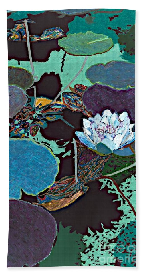 Landscape Beach Towel featuring the painting Midnight Moonglow by Allan P Friedlander