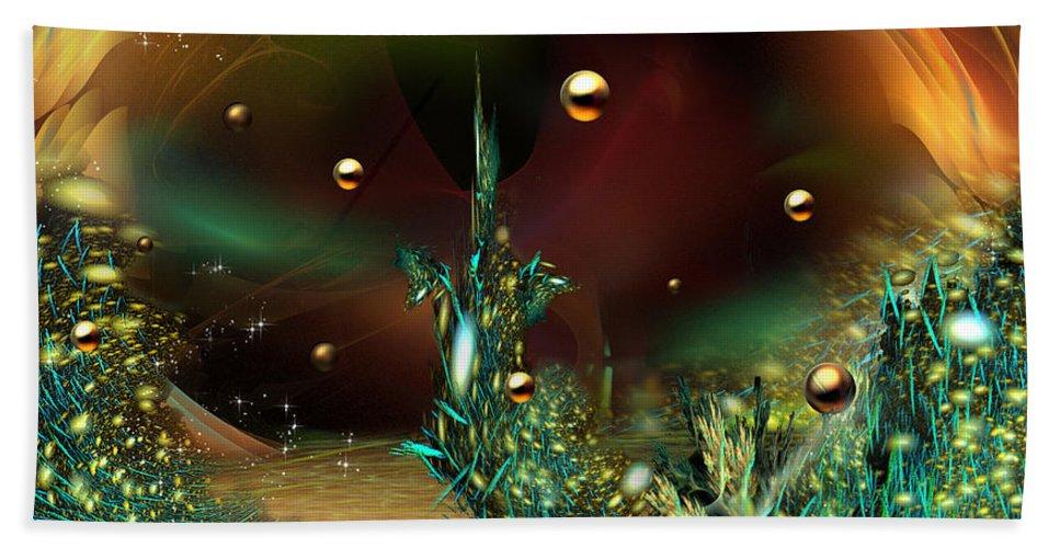 Phil Sadler Beach Towel featuring the digital art Midtown by Phil Sadler