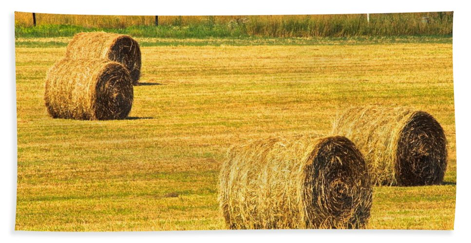 Midwest Beach Towel featuring the photograph Midwest Farming by Frozen in Time Fine Art Photography