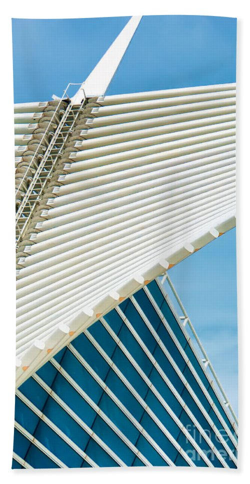 Milwaukee Art Museum Beach Towel featuring the photograph Milwaukee Art Museum by David Perry Lawrence