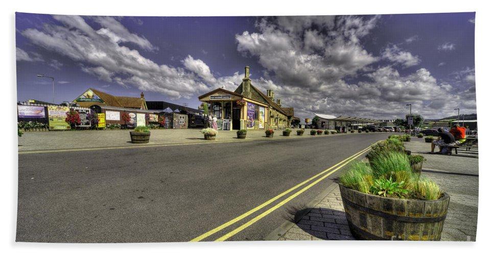 Minehead Beach Towel featuring the photograph Minehead Station by Rob Hawkins