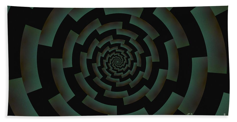 Abstract Beach Towel featuring the photograph Minotaur's Labyrinth by Clare Bambers