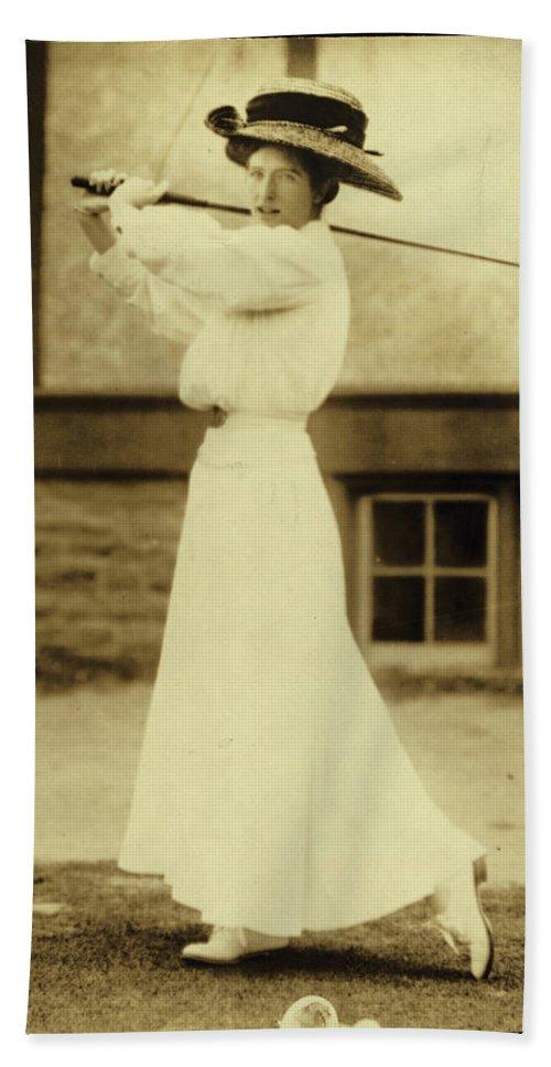 Miss Katherine Harley Beach Towel featuring the digital art Miss Katherine Harley by Unknown