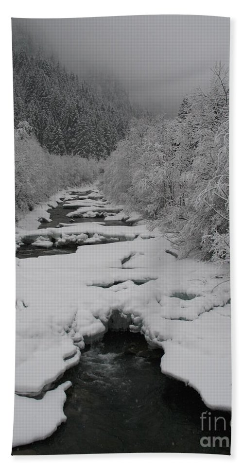 Creek Beach Towel featuring the photograph Mist Above The Creek by Christiane Schulze Art And Photography
