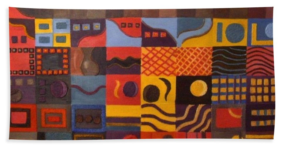 Emotions Beach Towel featuring the painting Mixed Emotions by Leslye Miller