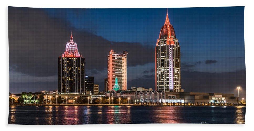 Mobile Alabama Skyline Beach Towel For Sale By Phil Floyd