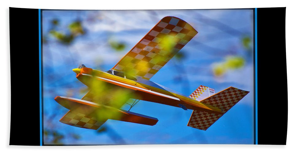 Plane Beach Towel featuring the photograph Model Plane 2 by Larry White