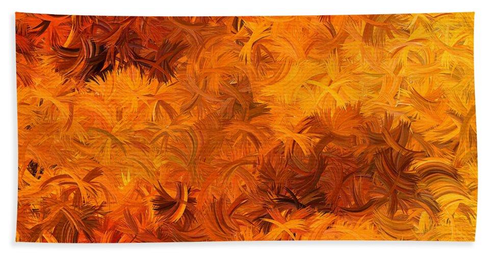 Yellow Beach Towel featuring the digital art Modern Abstract Xxviii by Lourry Legarde