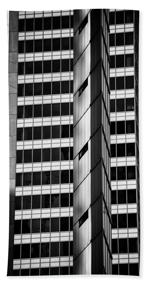 Abstract Beach Towel featuring the photograph Modern Buildings Abstract Architecture by Artur Bogacki