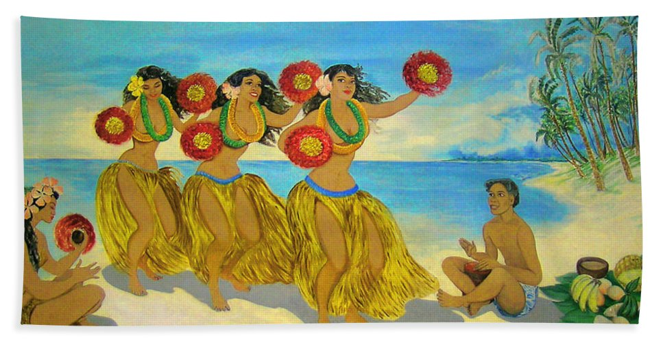 Hawaii Iphone Cases Beach Sheet featuring the photograph Moloka'i Hula 2 by James Temple