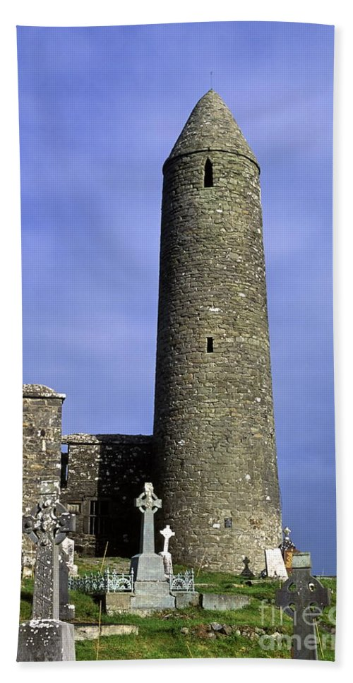 Europe Beach Towel featuring the photograph Monastic Round Tower by John Greim