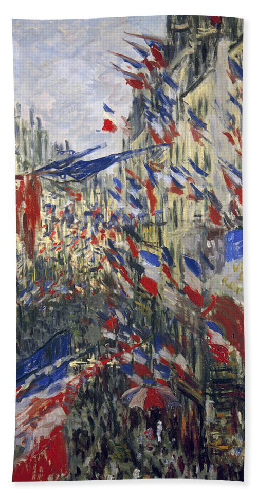 1878 Beach Towel featuring the photograph Monet: Montorgeuil, 1878 by Granger