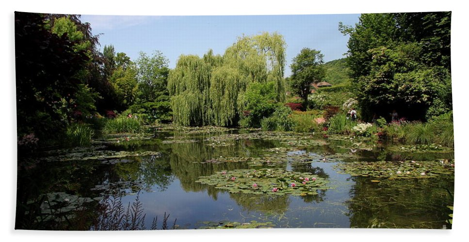 Pond Beach Towel featuring the photograph Monets Waterlily Pond by Christiane Schulze Art And Photography