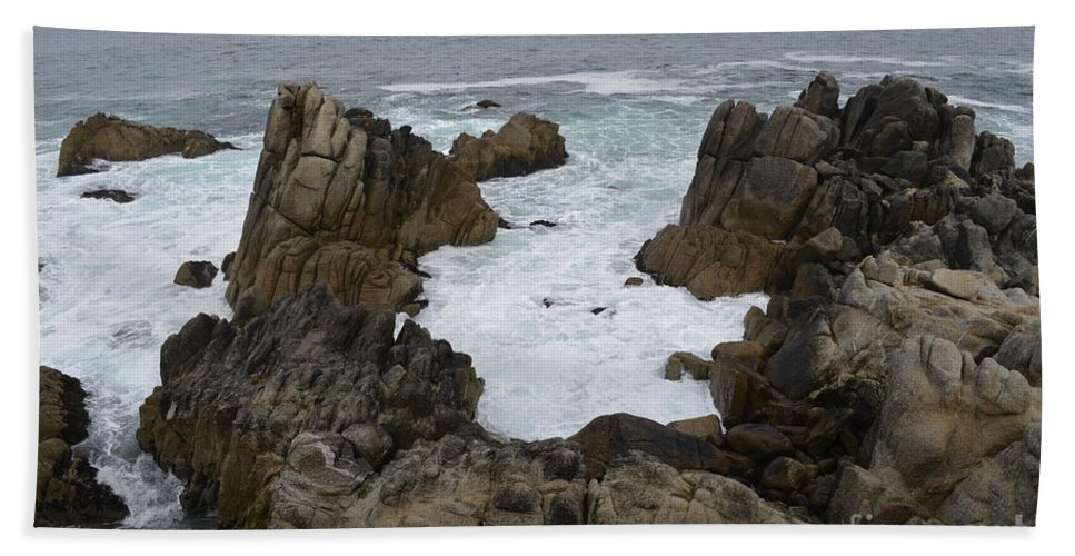 Monterey Beach Towel featuring the photograph Monterey Bay - California by S Mykel Photography