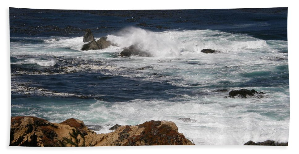 Beautiful Beach Towel featuring the photograph Monterey Coast by Bev Conover