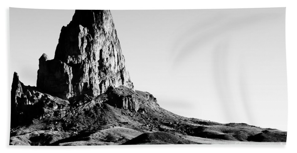 Landscape Beach Towel featuring the digital art Monument Valley Promontory by Tim Richards